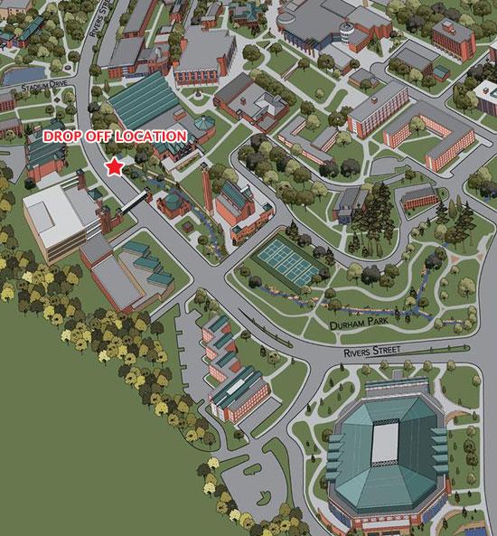 Home School PE Drop Off location map